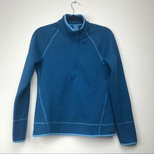 REI half zip fleece jacket blue